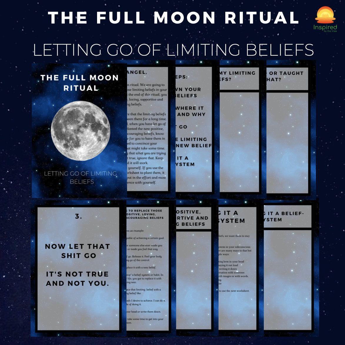 The Full Moon Ritual Worksheet Full Moon Full Moon