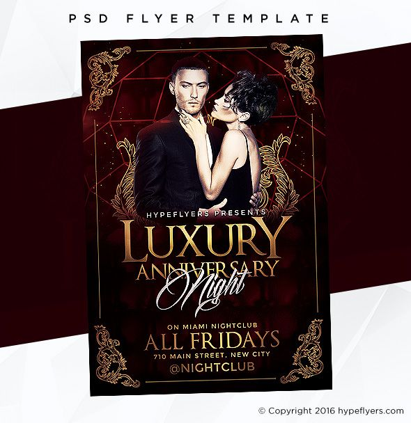 Luxury Anniversary Flyer Template Event Template Flyer Template
