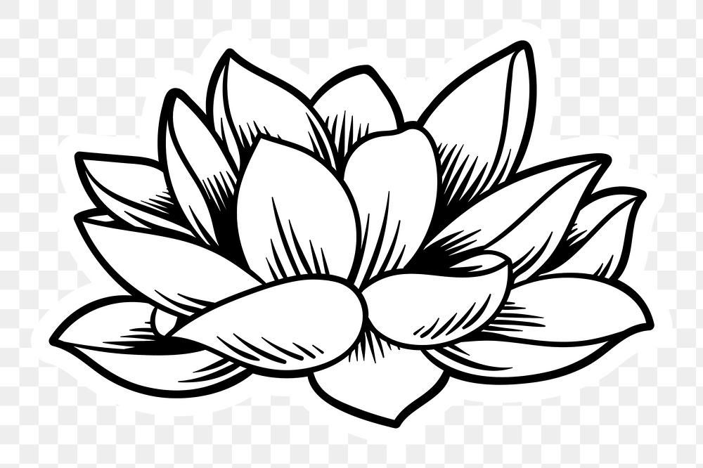 Japanese Lotus Flower Sticker With White Border Free Image By Rawpixel Com Tvzsu Japanese Lotus Lotus Outline Lotus