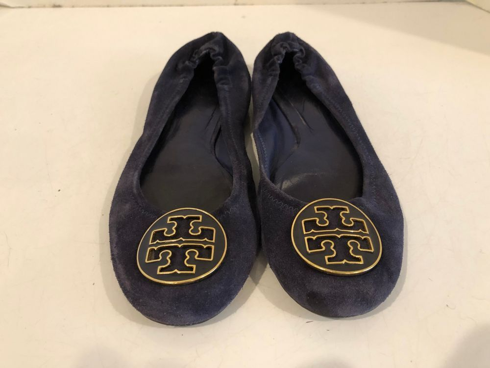 fb2b94a42f80 Tory Burch Reva Blue Suede ballet shoe flat Size 8.5 M  fashion  clothing   shoes  accessories  womensshoes  flats (ebay link)