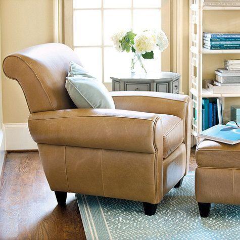 Paris Leather Chair & Ottoman
