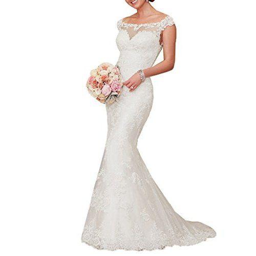 3d119e04e1a SIQINZHENG Women s Sweetheart Full Lace Beach wedding Dress Mermaid Bridal  Gown at Amazon Women s Clothing store