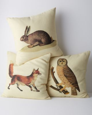 Woodland Animal Pillow Cover