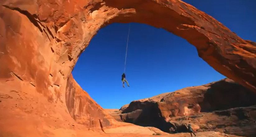 World S Largest Rope Swing Off Corona Arch In Moab Is Huge