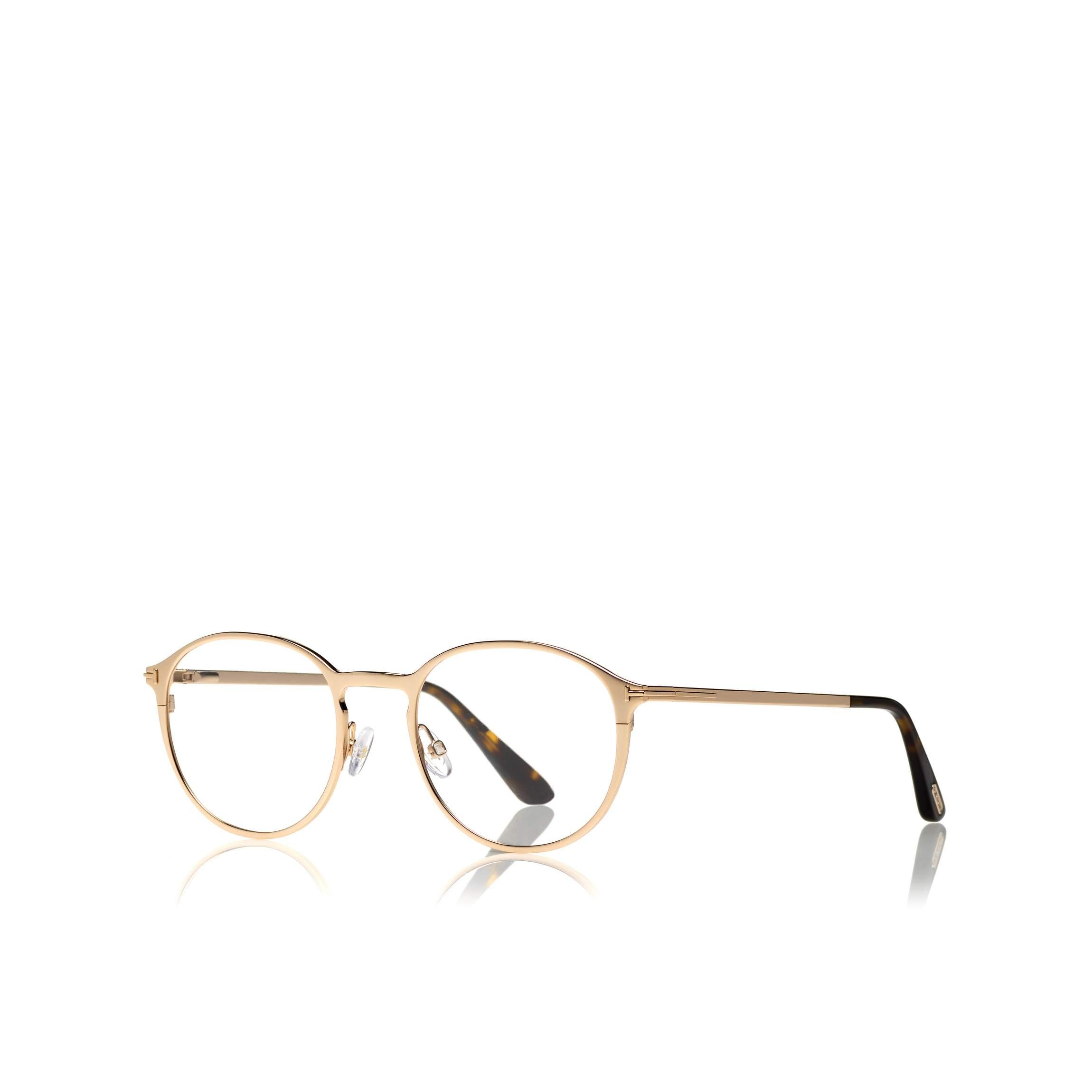 ac5ce615d2bd Tom Ford SOFT ROUNDED OPTICAL FRAME WITH MAGNETIC CLIP - Men