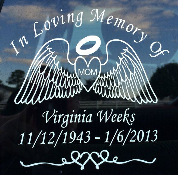 In Loving Memory Personalized Custom Vinyl Decal Sticker Graphic Car Window