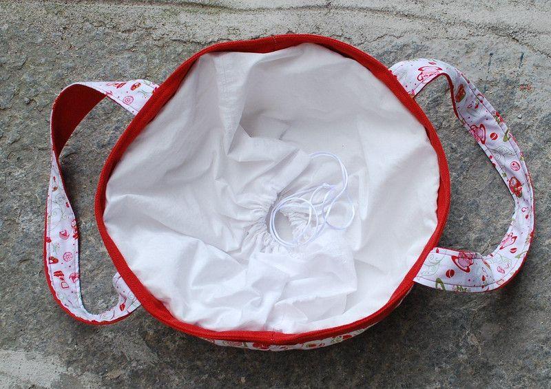 Borse di stoffa - Borsa portatorte con teiere e tazzine - un prodotto unico di Dot-Bags su DaWanda