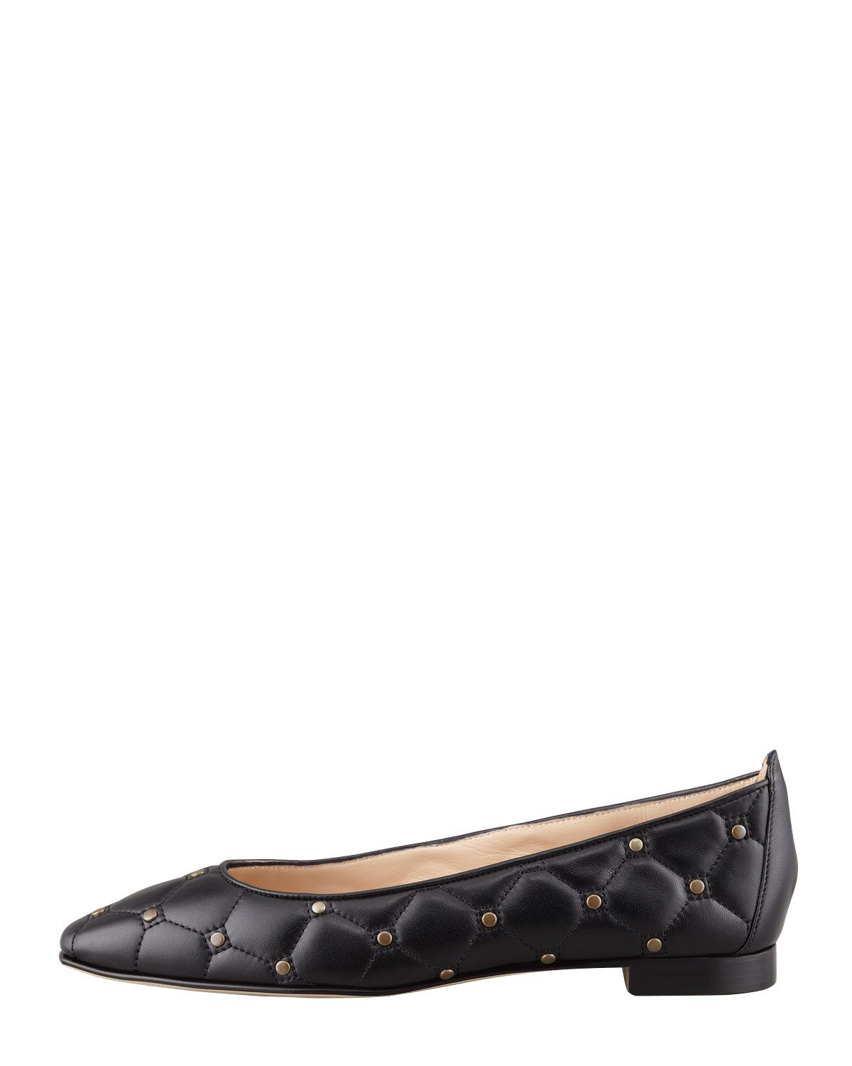 quilted patent leather pump | MANOLO BLAHNIK Womens Black Giungla Quilted Leather Skimmer