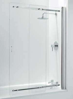 Coram Chrome Frameless Clear Glass Sliding Bathscreen Ssl2105cuc Bath Screens Sliding Shower Screens Bath Screens Bath Shower Screens