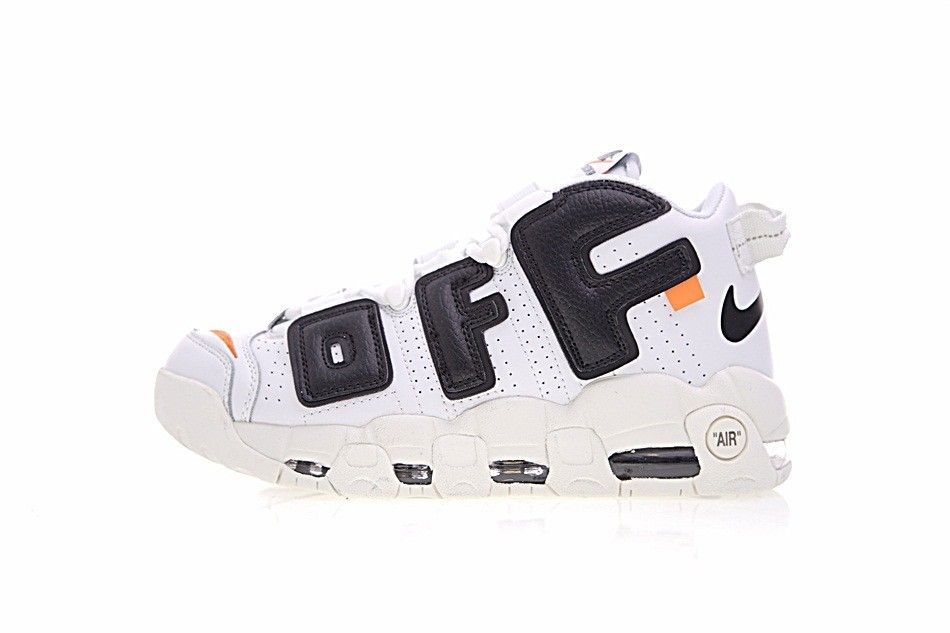 Off White x Nike Air More Uptempo Leather White Black AA4060