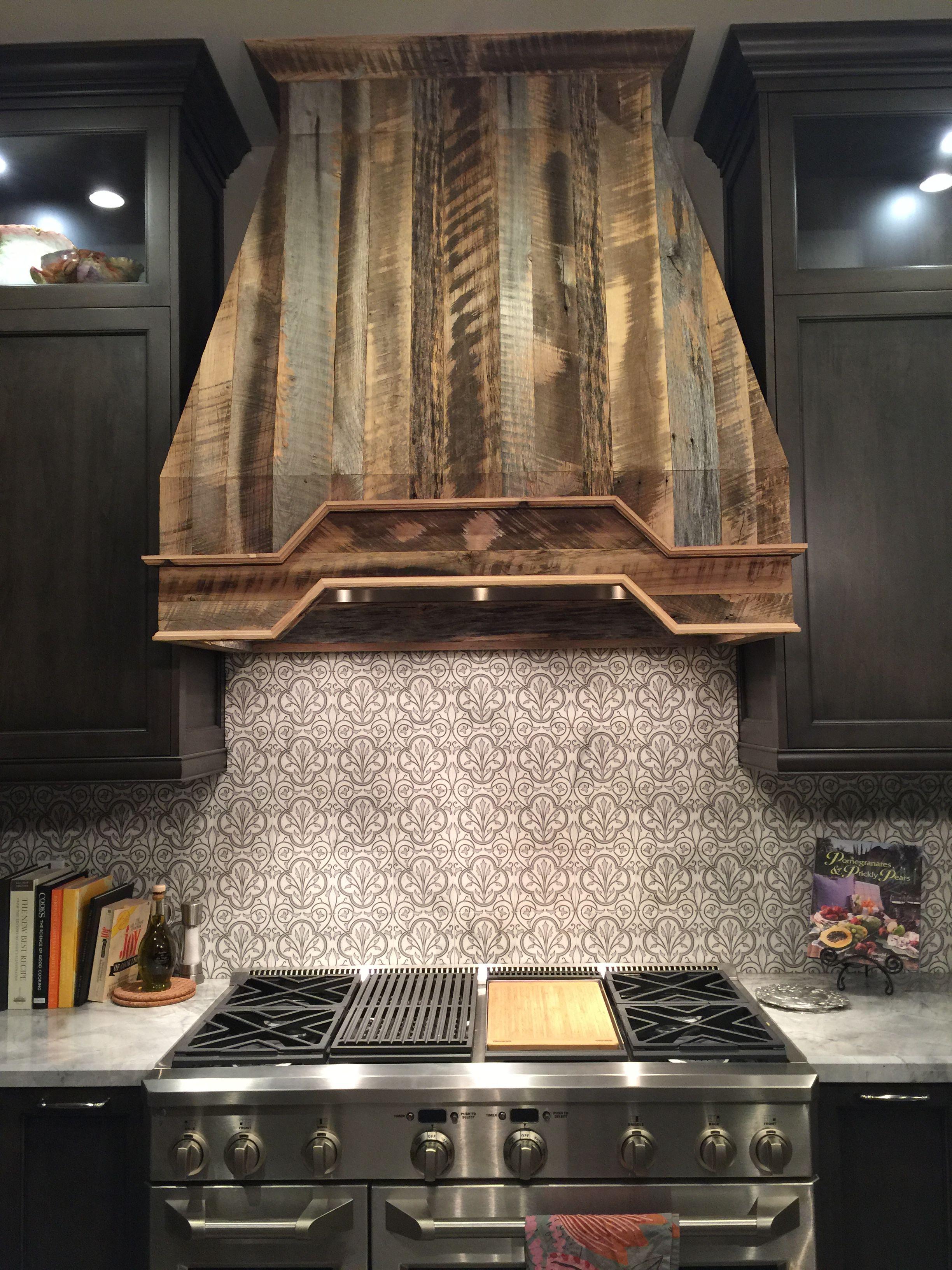 Stunning Reclaimed Wood Hood Kitchen Hoods Wood Kitchen Rustic Kitchen