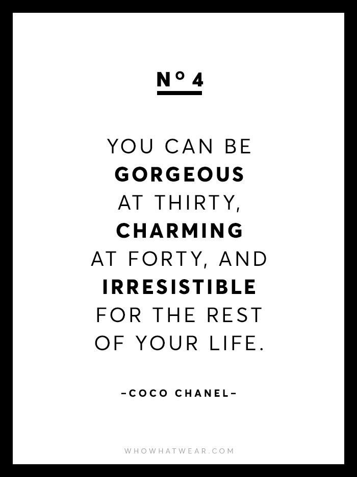 13 rare coco chanel quotes via whowhatwear besuche. Black Bedroom Furniture Sets. Home Design Ideas
