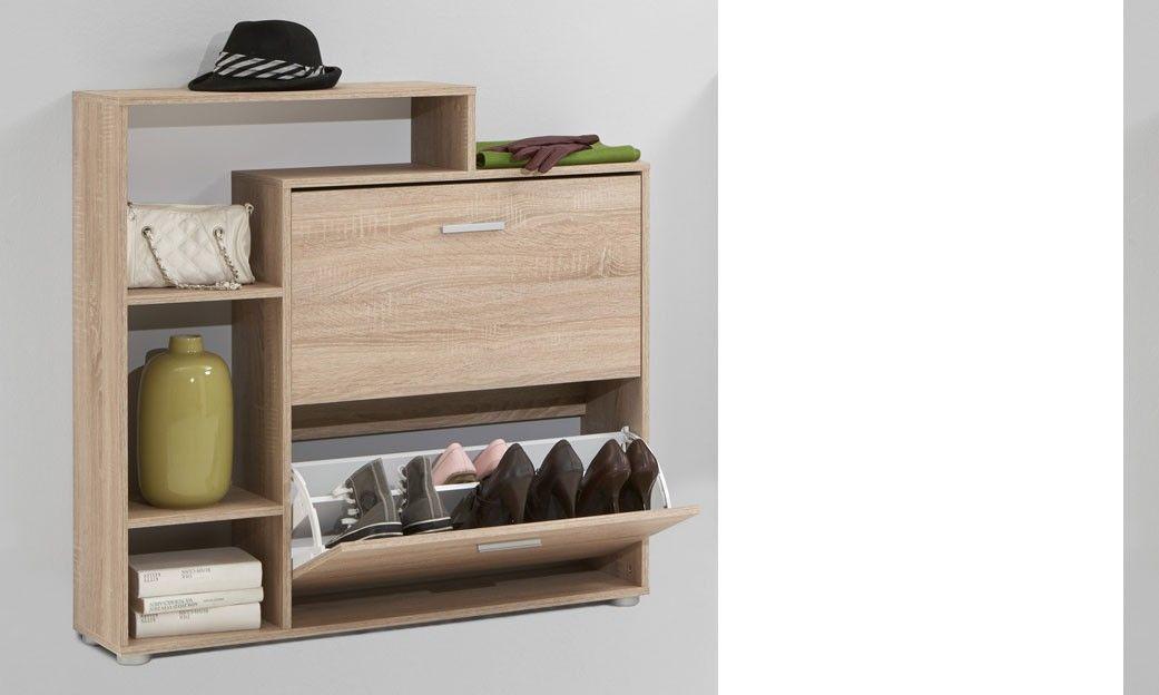meuble d 39 entr e range chaussures couleur ch ne ou blanc serti id es maison pinterest. Black Bedroom Furniture Sets. Home Design Ideas