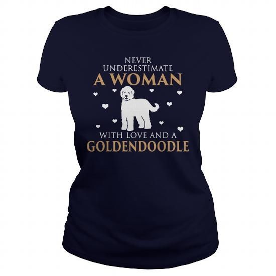 Goldendoodle T Shirts, Hoodies, Sweatshirts. CHECK PRICE ==► https://www.sunfrog.com/LifeStyle/Goldendoodle-126188206-Navy-Blue-Ladies.html?41382