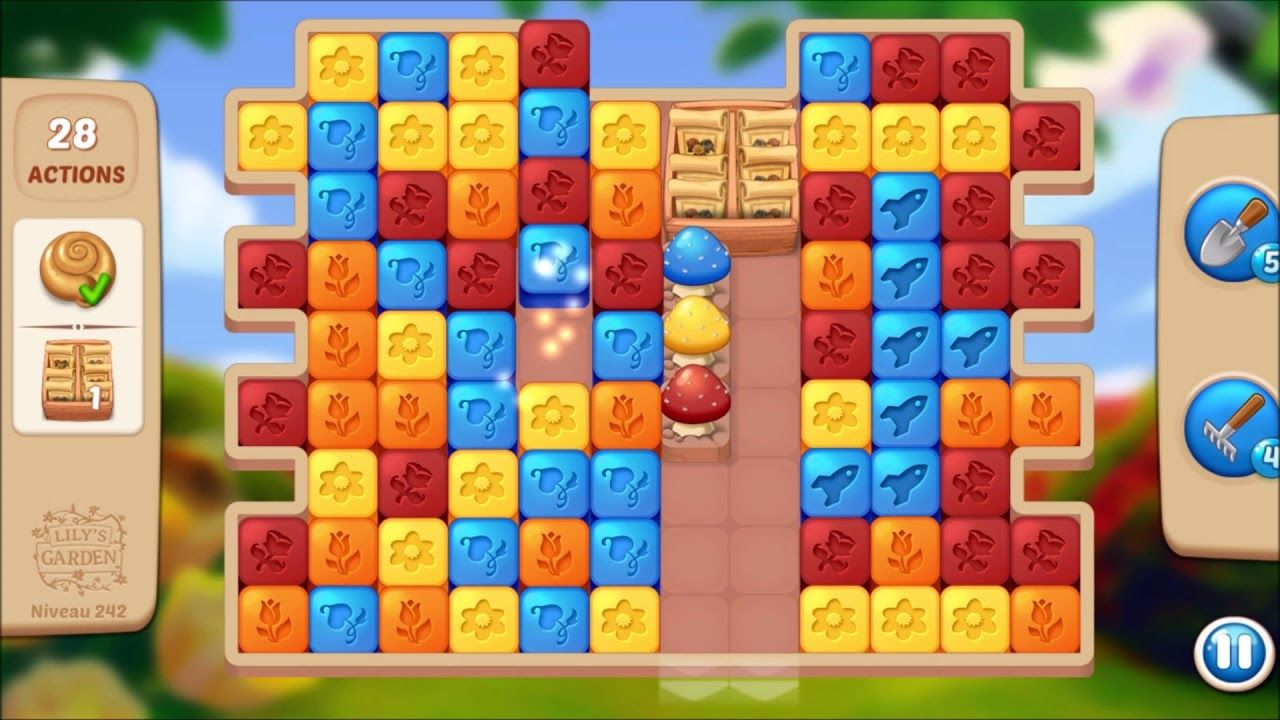 Lily S Garden Level 242 No Boosters Design Puzzle Lily Garden Garden Levels