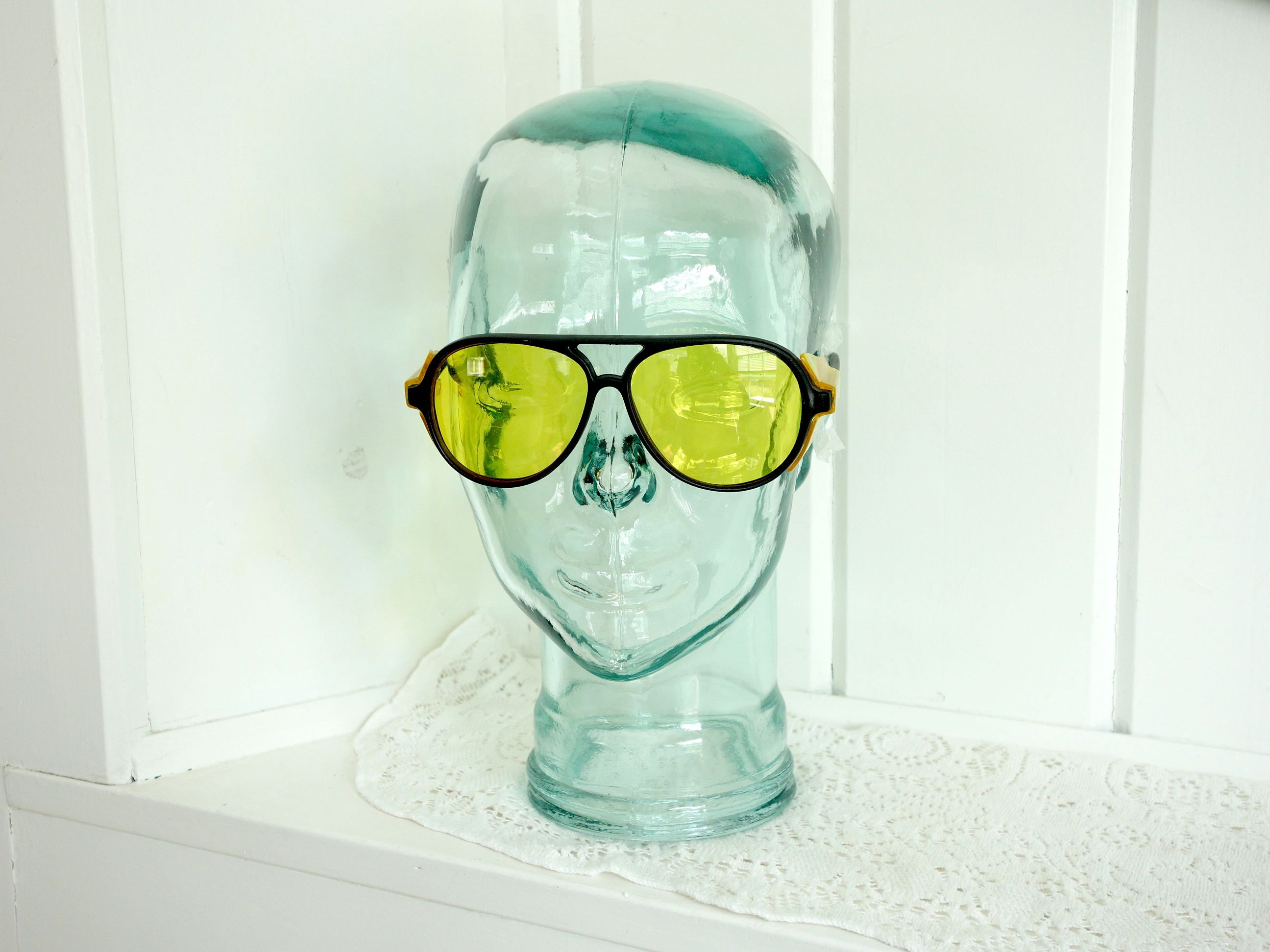 Vintage 1970s Safety YELLOW LENS Gonzo Hunter S Thompson