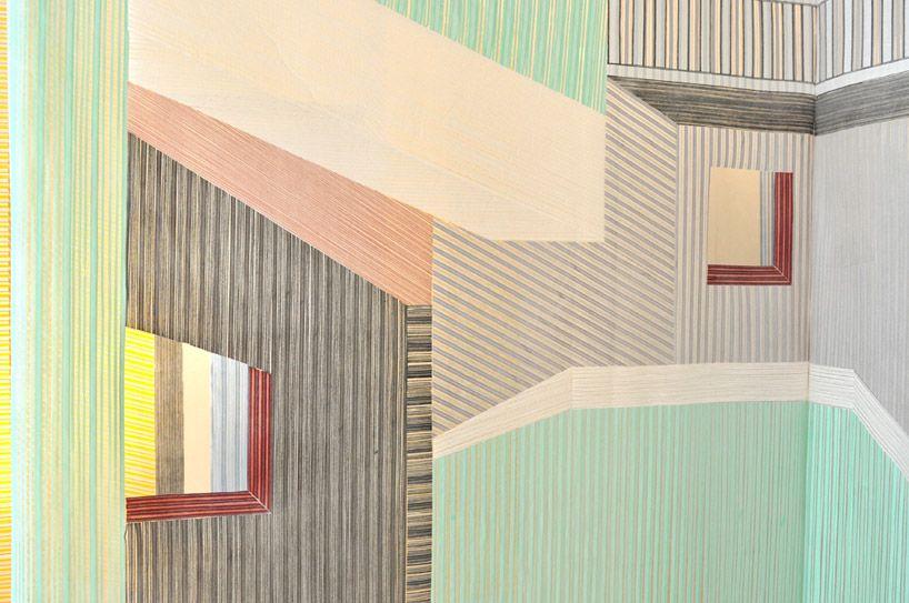 woven walls installation by wies preijde couleurs inspirations illustration graphisme et. Black Bedroom Furniture Sets. Home Design Ideas