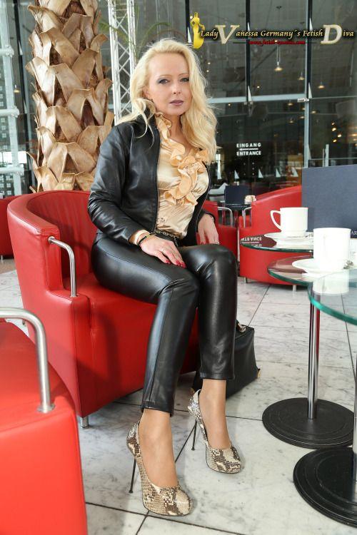 german milf in leather pants