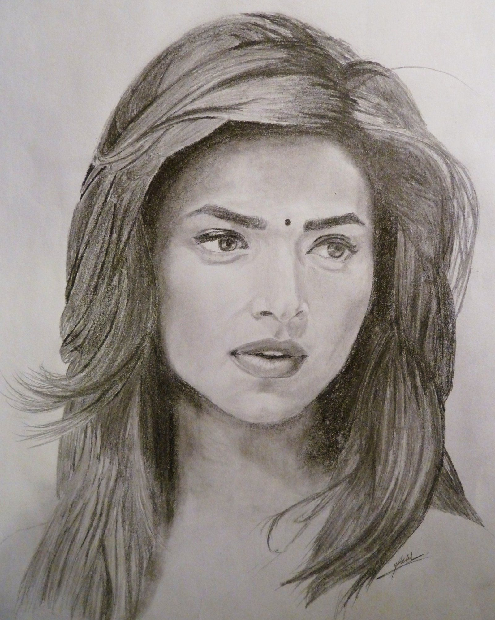 Traditional Indian People Drawing