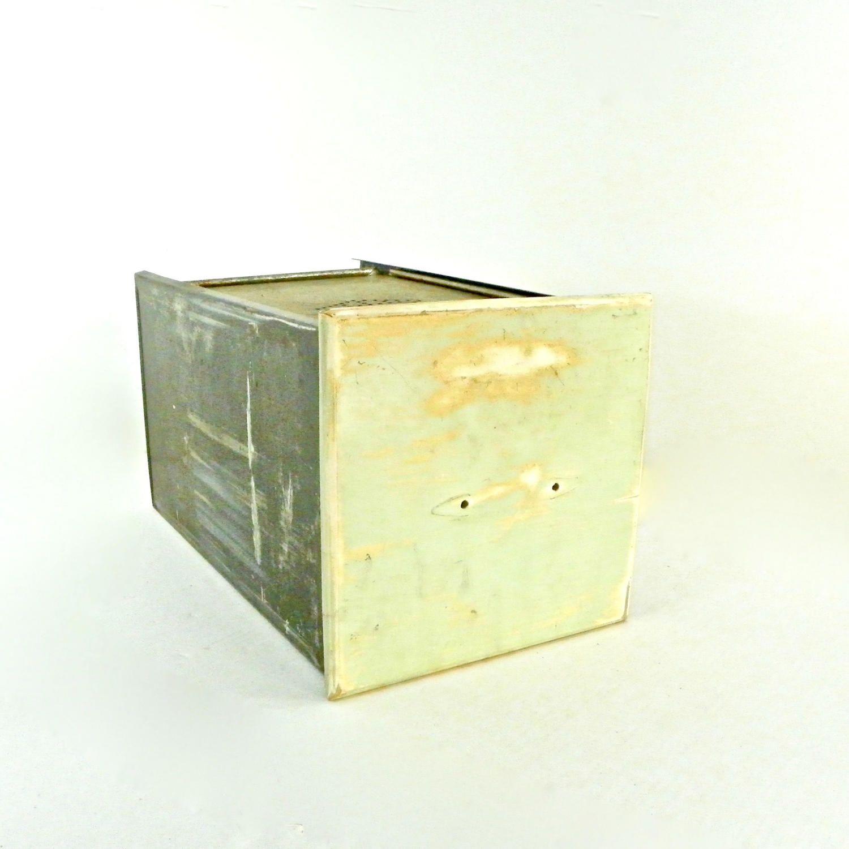 Hoosier Tin Bread Box Drawer with Sliding Lid