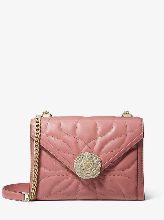 Michael Kors Whitney Large Petal Quilted Leather Convertible Shoulder Bag Shoulder Bag Convertible Shoulder Bags Shoulder Bag Women