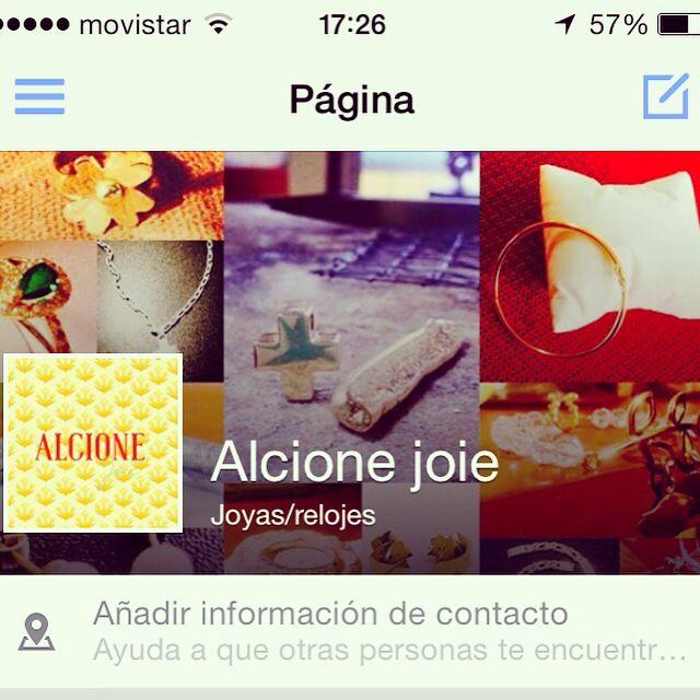 Tenemos fanpage en Facebook, dale me gusta! #oro #plata #designbyyourself #alcionejoie