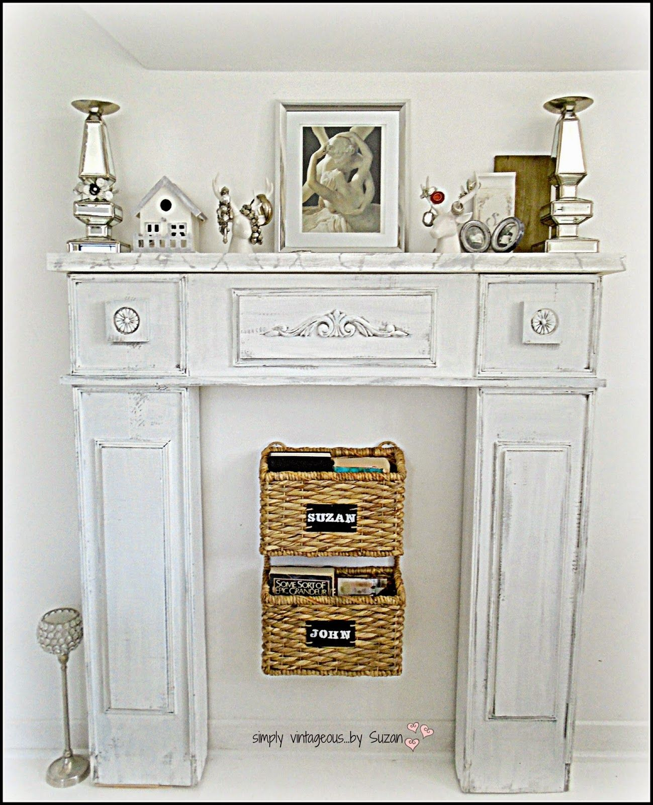 Painted faux fireplace diy home projects pinterest faux