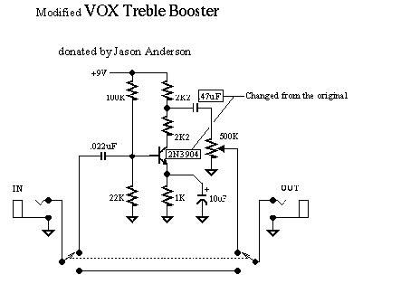 modified vox treble booster jpg 443 335 projects to try pinterest rh pinterest com vox treble booster for sale vox ac30 treble booster