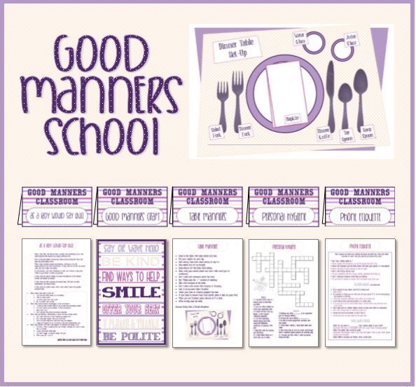 Activity Day Ideas Good Manners School Serving Others – Good Manners Worksheets