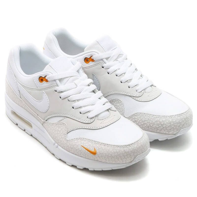 nike air max 1 safari white kumquat prmd