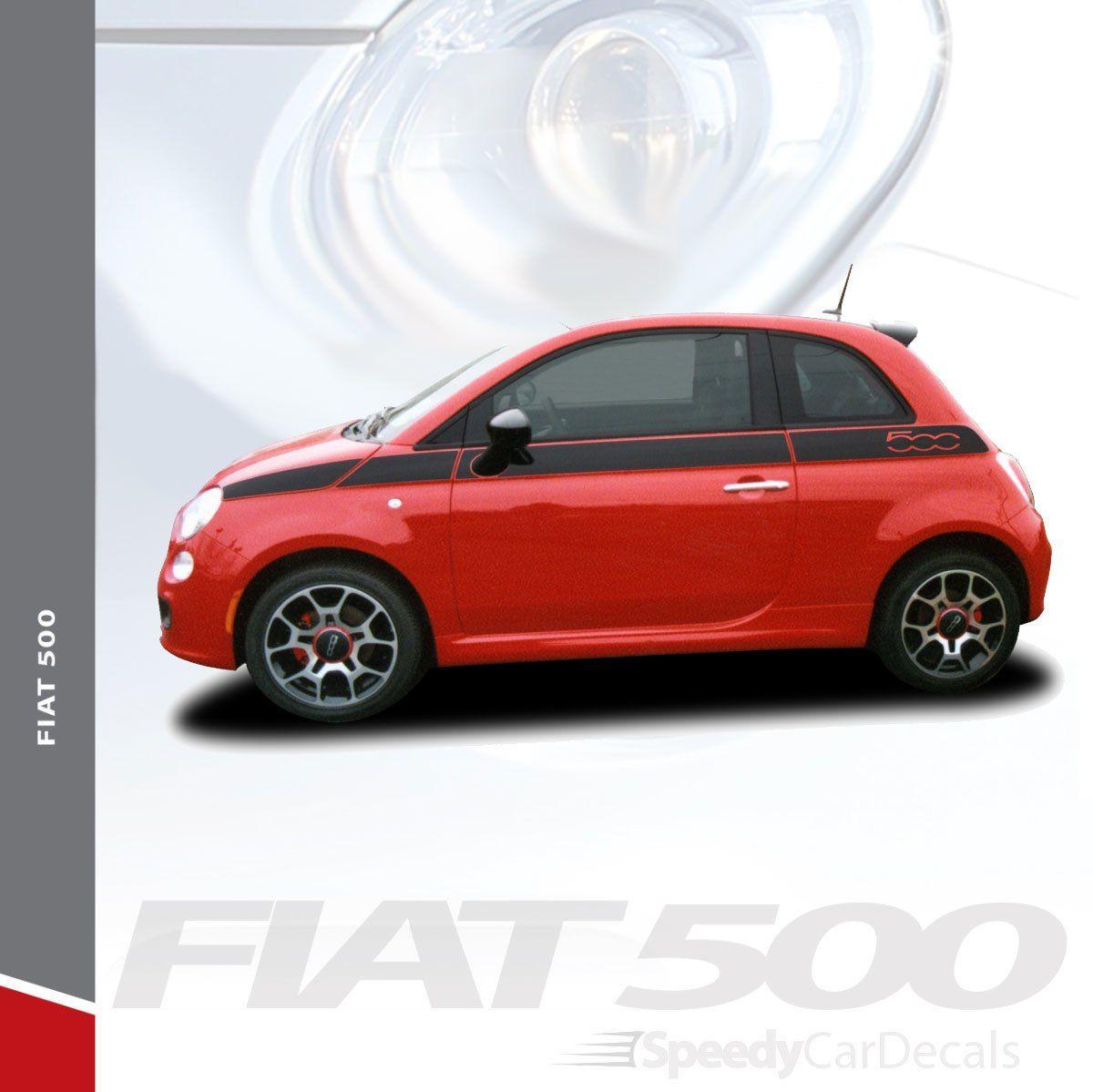 Fiat 500 Side Body Stripes 3m Fiat Se5 2012 2015 2016 2017 2018 2019 Premium Auto Striping Fiat 500 Racing Stripes Car Stripes [ 1199 x 1200 Pixel ]