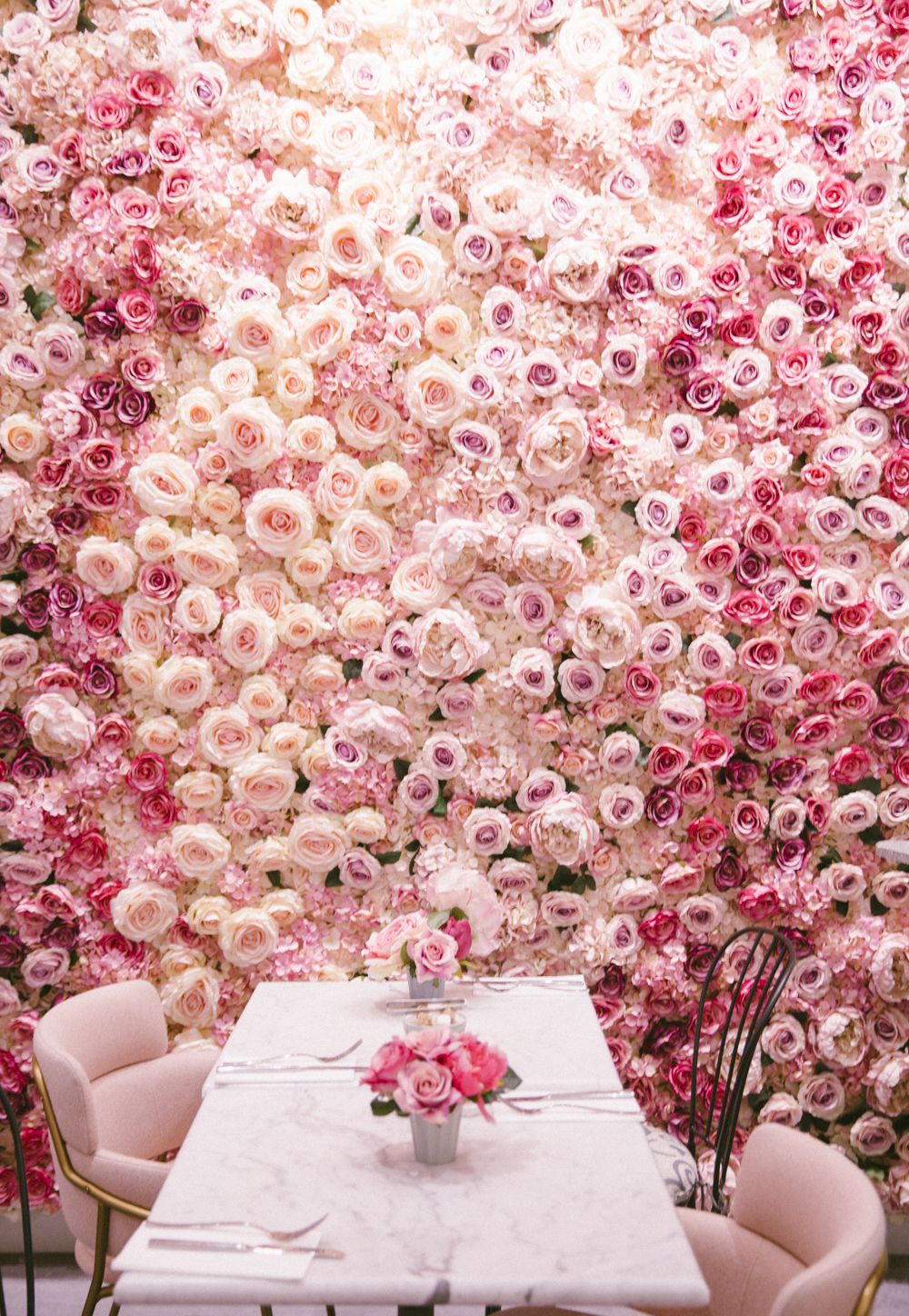Blooming Lovely Café London Pink Cafe Flowers Flower Wall