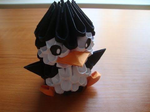 3d Origami Penguin Tutorial Youtube Origami Origami
