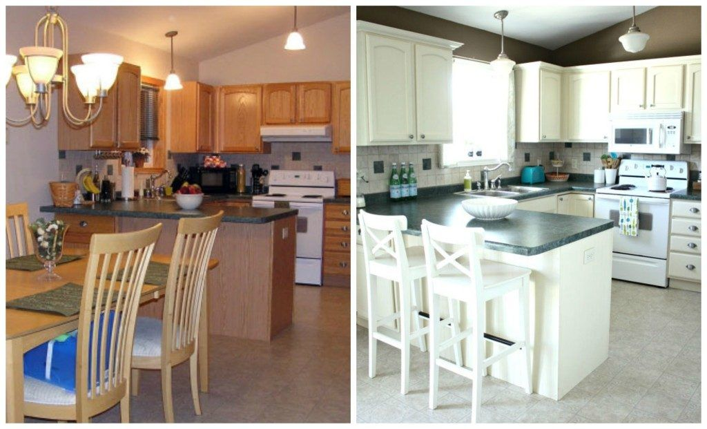 Kitchen White Painted Kitchen Remodel Ideas Before And After Oak Classy Repainting Oak Kitchen Cabinets Inspiration