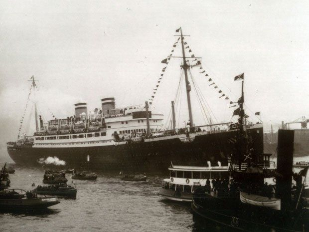 This picture dated June 1939 shows the M.S. St. Louis in Havana, Cuba. The St. Louis carried 930 Jewish refugees from Nazi Germany to Cuba w...