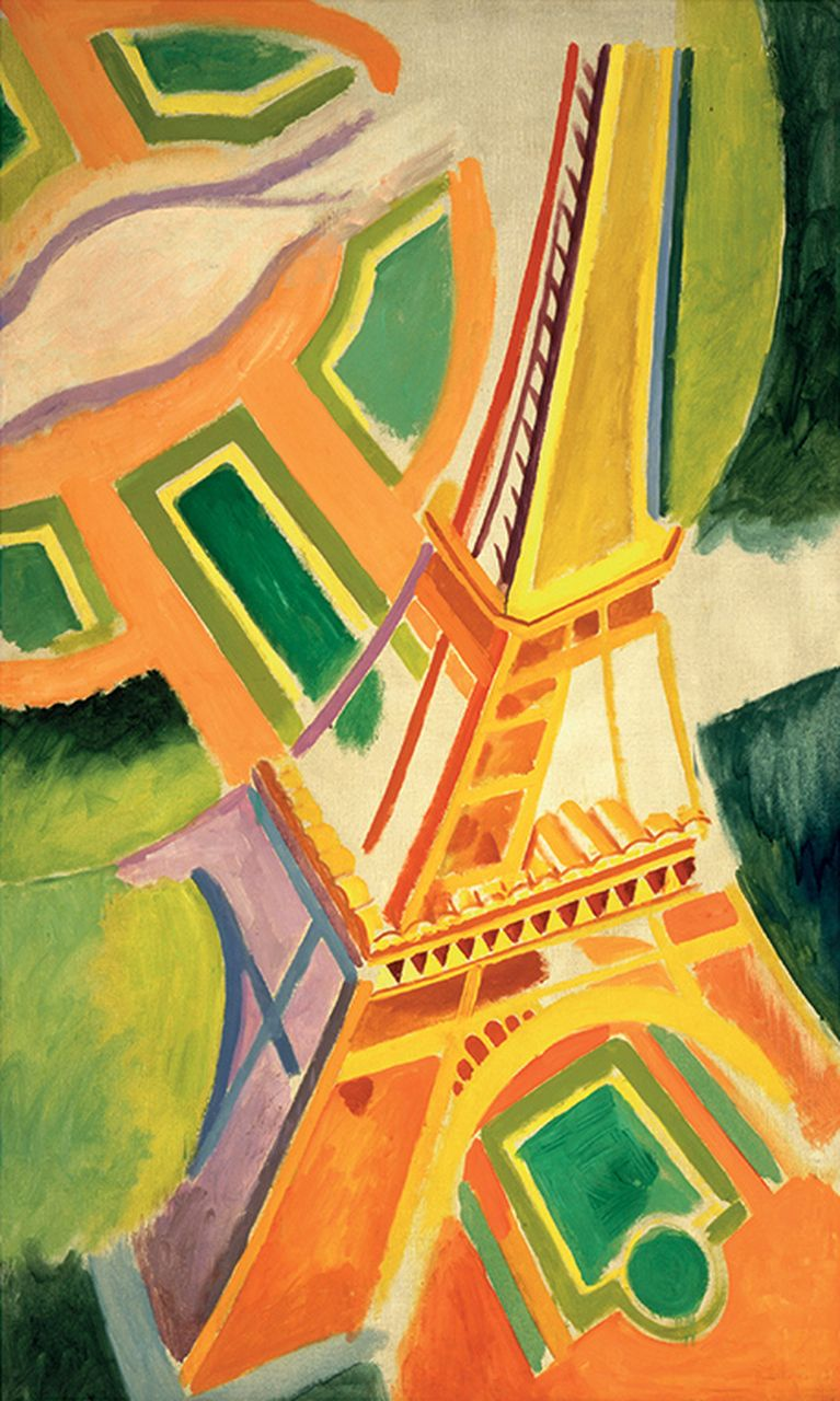 Delaunay The Eiffel Tower 500pc Jigsaw Puzzle by