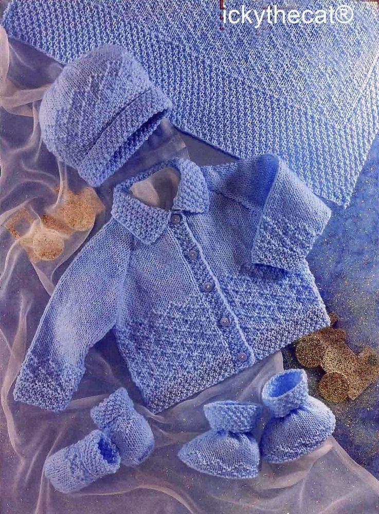 PDF Digital Download Vintage Knitting Pattern Baby Babies ...