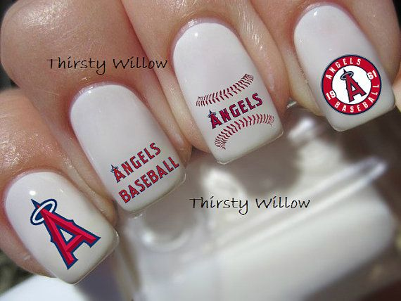 Los Angeles Angels Nail Decals By ThirstyWillow On Etsy Root For - How to make nail decals at home
