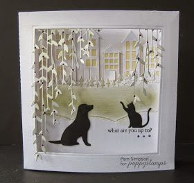 "Goodmorning everyone.   Sharing my DT card for Poppystamps blog today.   http://poppystamps.typepad.com/   Concertina scene card..6""x6"".   ..."