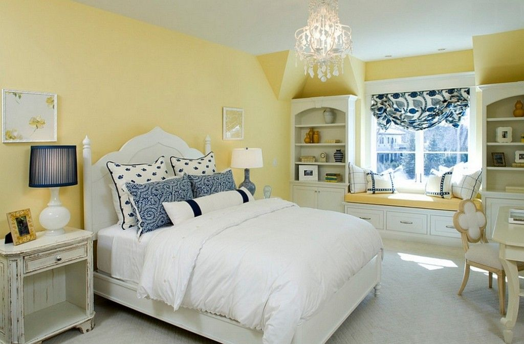 Interior ~ Traditional Bedroom Design With White Wooden Headboard ...