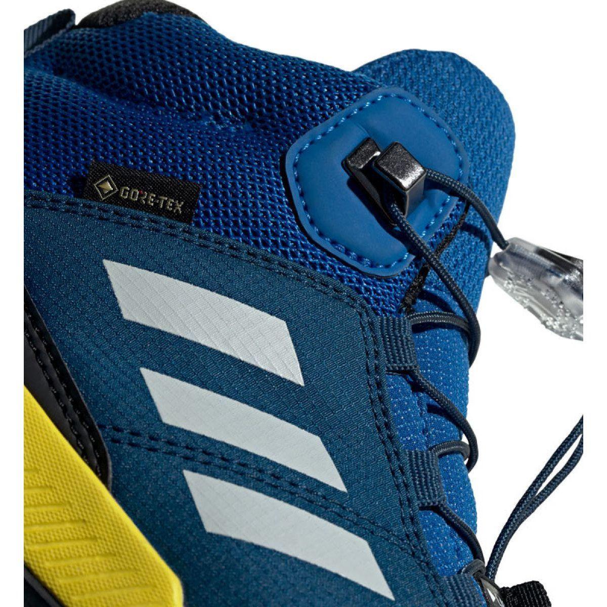 Adidas Terrex Mid Gtx Jr Bc0596 Shoes Black Blue Green Adidas Junior Shoes Durable Shoes