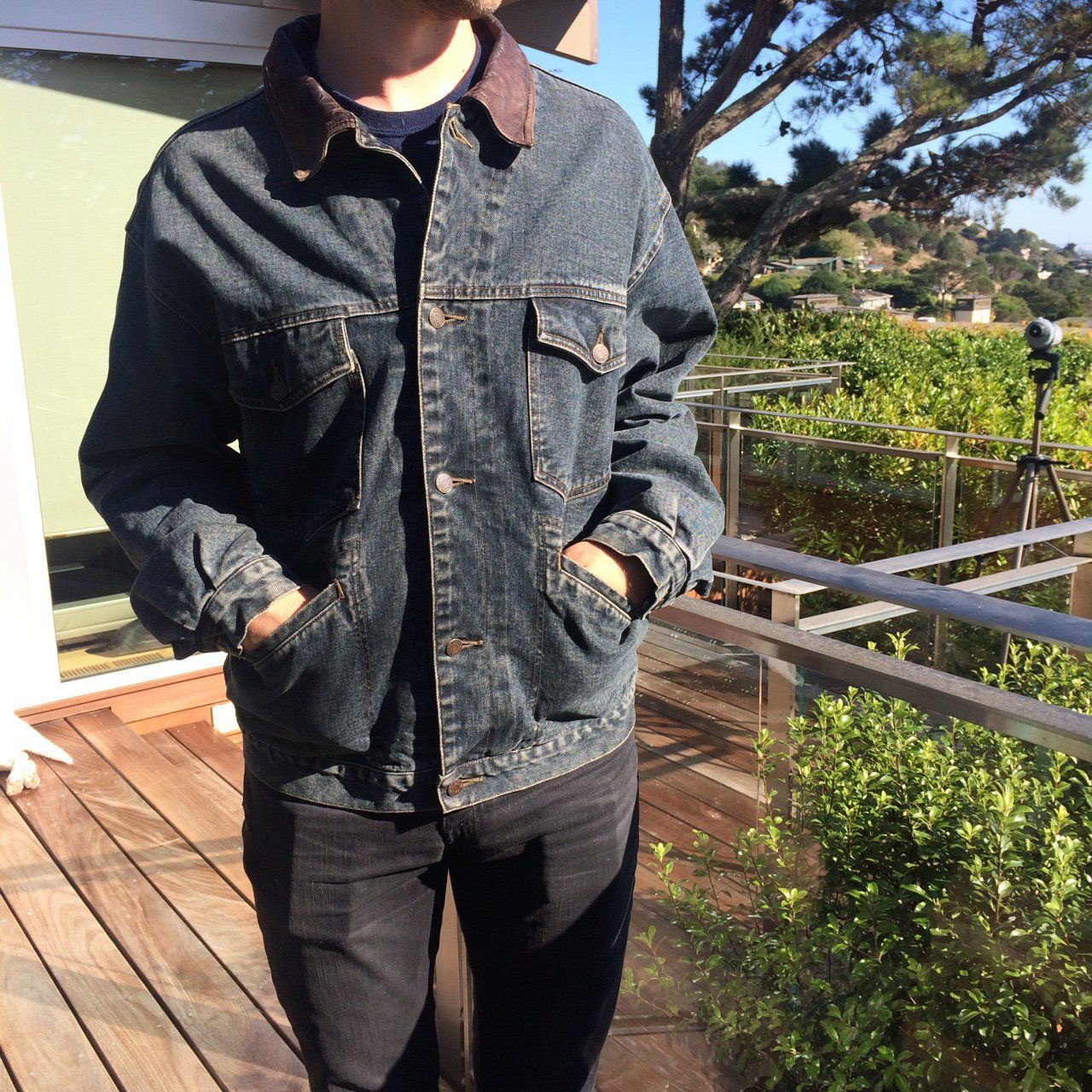 Flannel shirts 1990s  Free Shipping uc Vintage Gap Premier Standard Denim Coat With