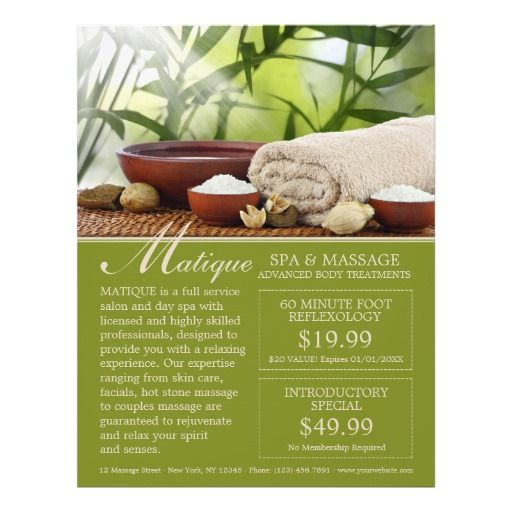 Day Spa Salon Menu Of Services Flyer With Coupons  Flyer