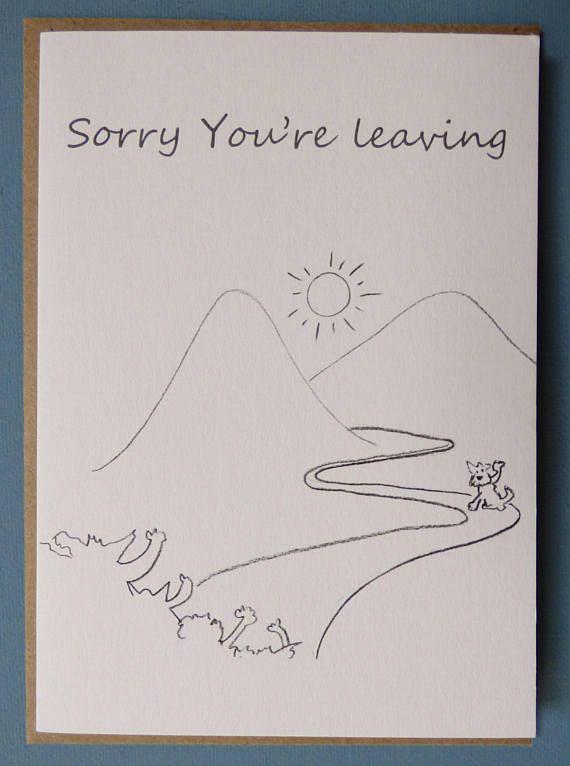LEAVING CARD GOODBYE dog greetings Card-animal card-funny ...
