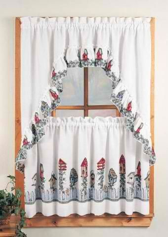 Birdhouse 3pc Kitchen Set Swag Curtains Rh Com