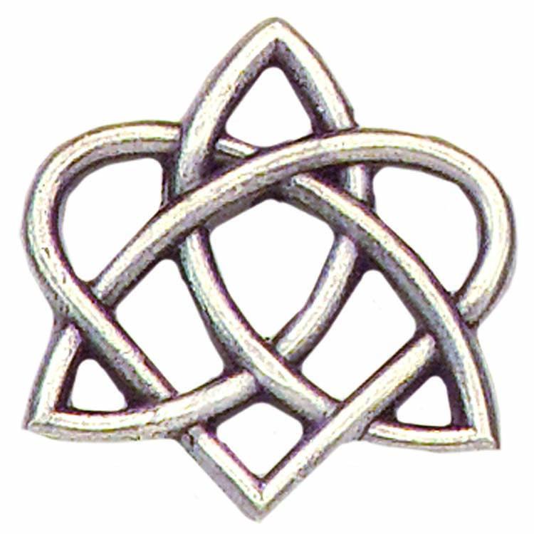 Irish Trinity Celtic Knot Trinity Circle Celtic Trinity Heart Pin