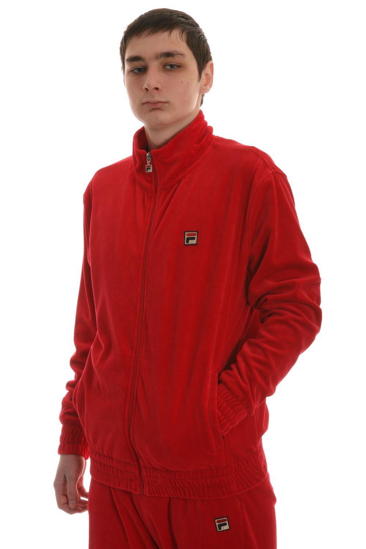 fila jogging suits. velour men sweat suits jordan | fila men\u0027s solid sweatsuit in chinese red (lm121t36 jogging c