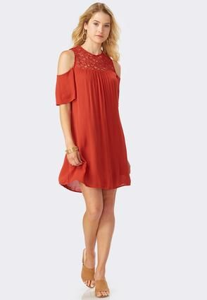 48243bad2e18 Cato Fashions Lace Cold Shoulder Swing Dress #CatoFashions | Just ...