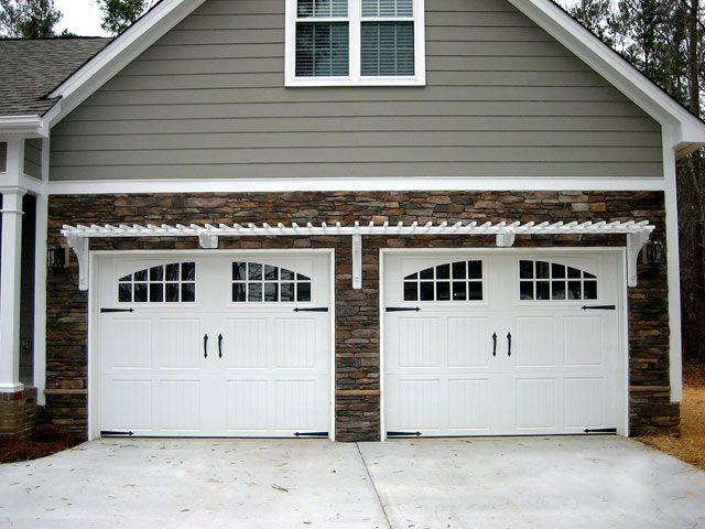 Double Car Two Door Garage Gems Pinterest Doors Arbors and