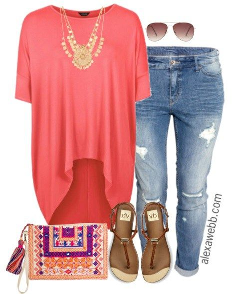 8b2ce22c0ee Plus Size Outfit Idea - Plus Size Jeans - Plus Size Fashion for Women -  alexawebb.com #alexawebb